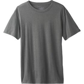 Prana Crew SS T-Shirt Men charcoal heather